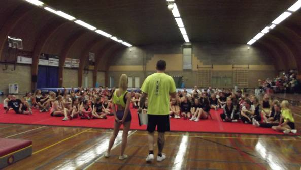 Opening of ABCD - Photo courtesy of Anne-Marie Olçay-Jansen of Cheer News Central